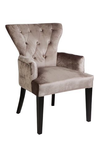 Ella Button Arm Chair Silver