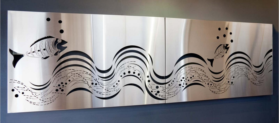 Fish Wave Stainless Steel Wall Panel