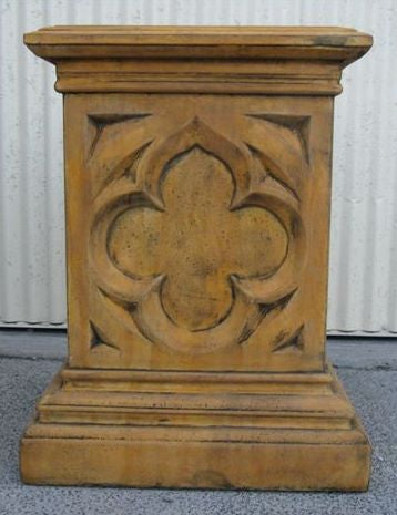 Gothic Revival Urn on Pedestal