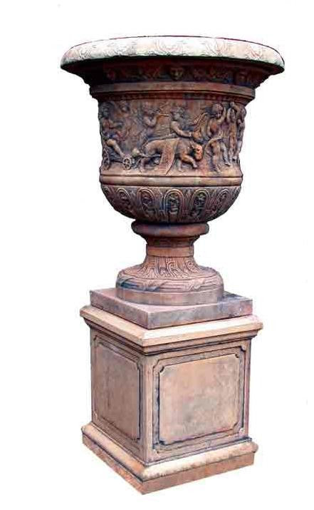 Large Versailles Urn on Pedestal