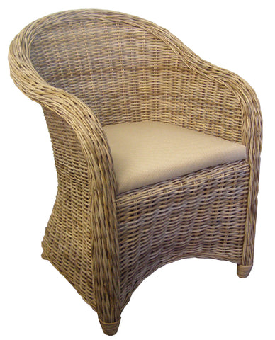 Slipper Chair Nougat with Black Legs