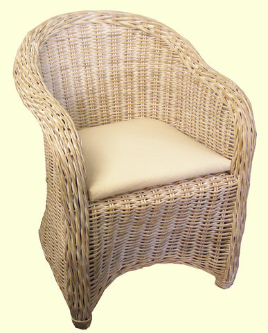 Sunrise Rattan Sofa White