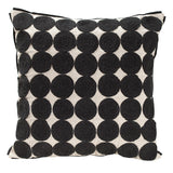 Medallion Cushion, Black and Natural
