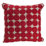 Medallion Cushion, Red and Natural