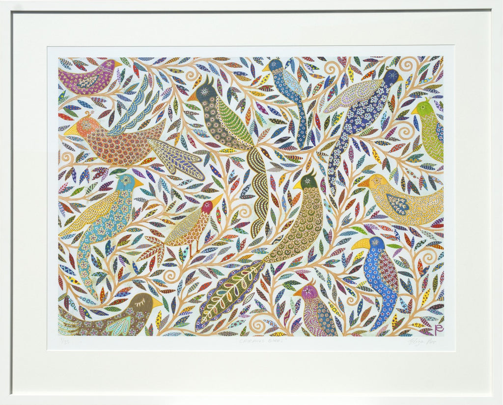 Chirping Birds Eliza Piro Limited Edition Framed Print