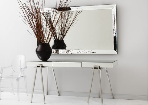 Mirrored Trestle Console