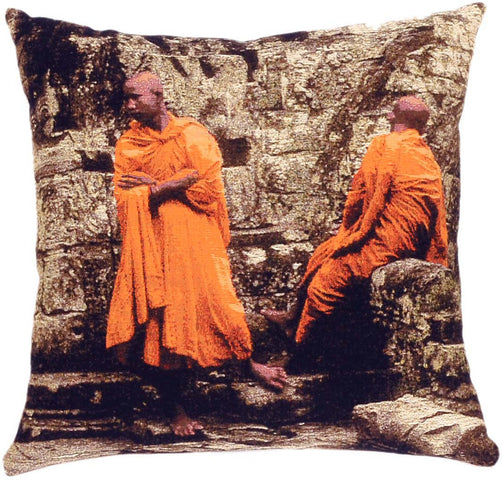 Monks Cushion Two Monks