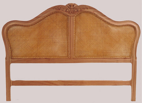 New Victorian Rattan Bed Head, Queen