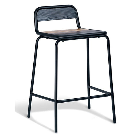 Halifax Black Frame Stool