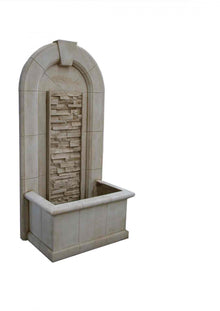 Sandstone Wall Fountain with Rock Cascade Panel