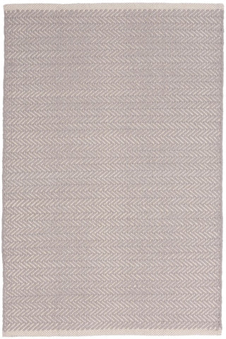 Herringbone Dove Grey Cotton Rug