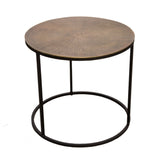 Stokesley Nesting Tables Set/2 Brass