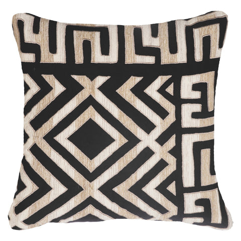 Aboriginal Dot Black Cushion