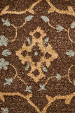 Nain Persian Design Rug Brown Red