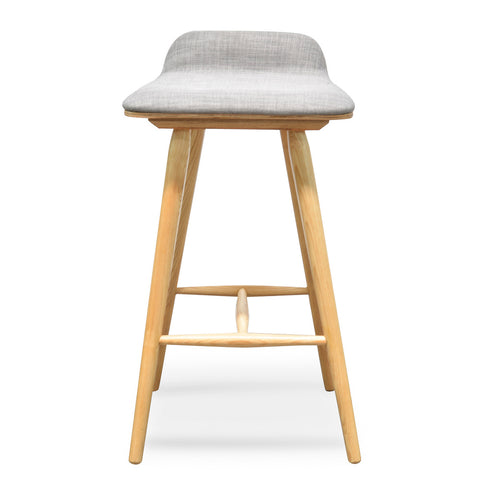 Todd Low Back Stool Grey/Natural