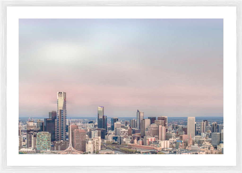 Melbourne City Skyline Photographic Framed Print