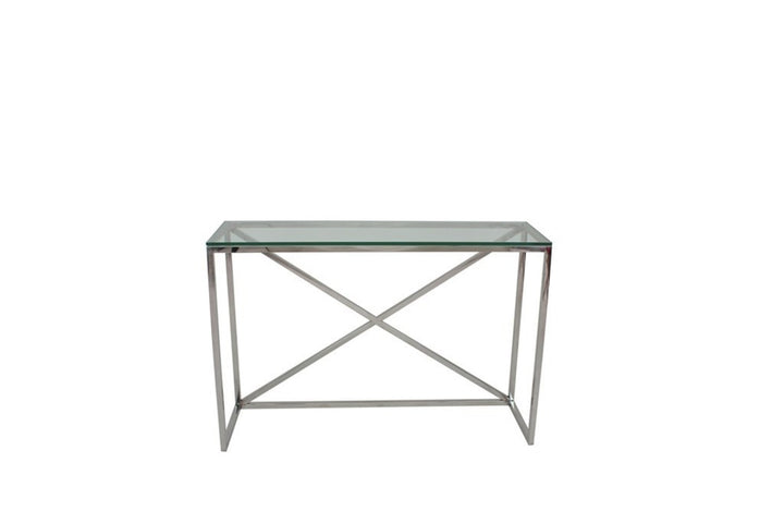 Chelsea Console Table Clear Glass