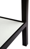 Cocktail Console Table Black and White