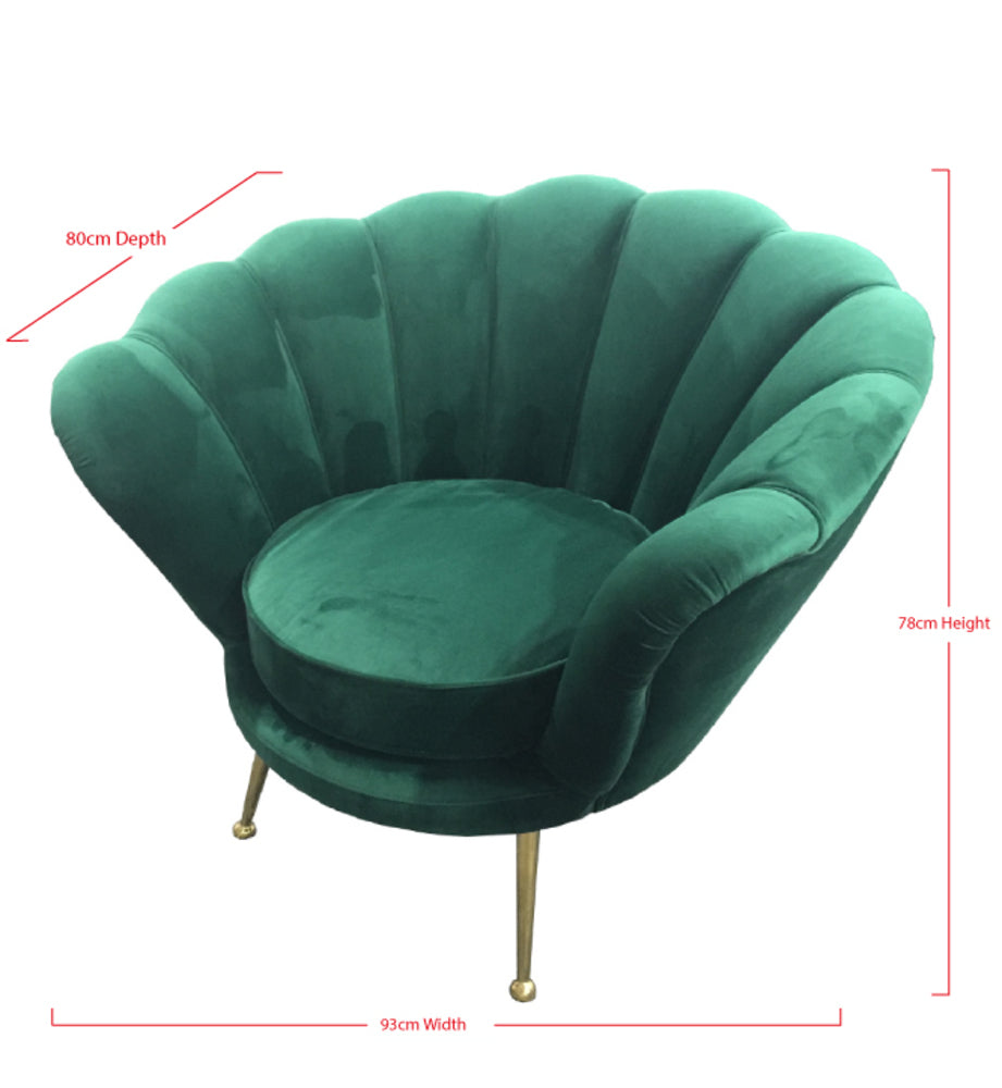 Shell Arm Chair Green