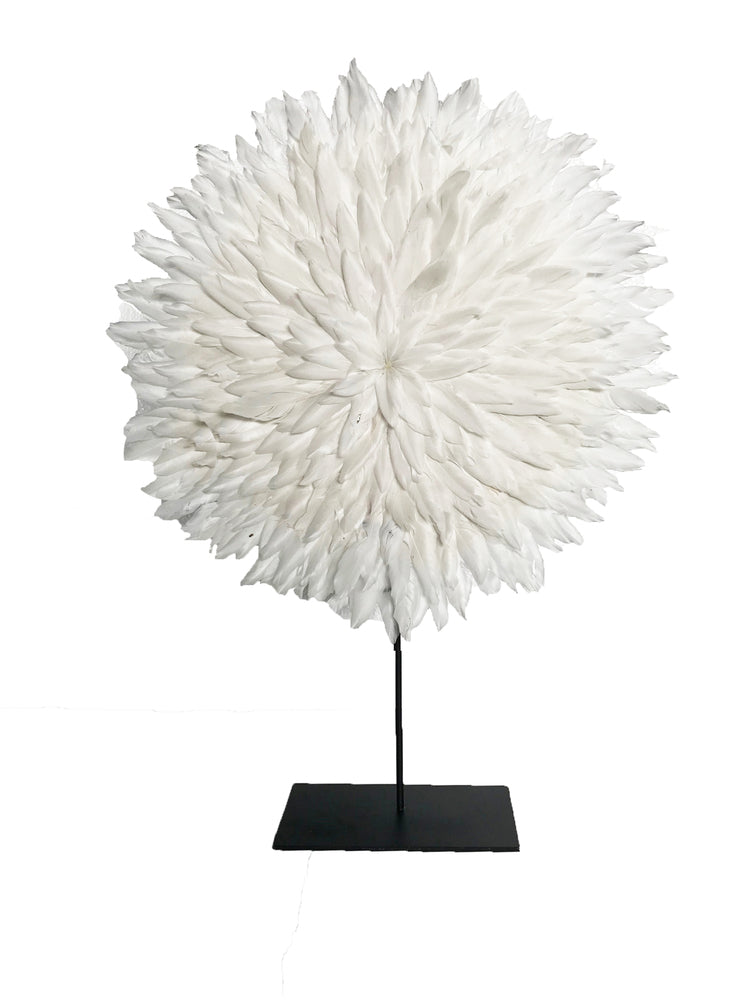 Zambezi Small Feather Disk White
