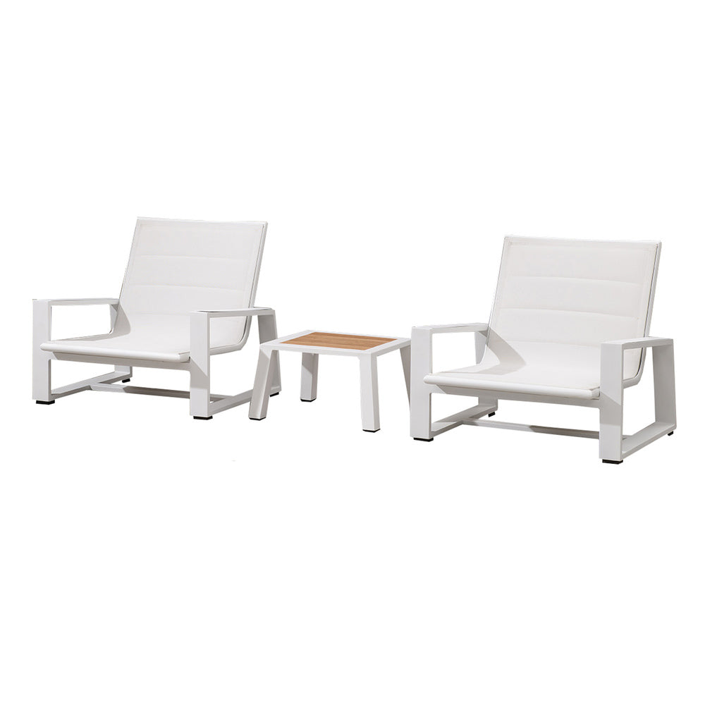 Bocage 3 Piece Low Casual Setting White