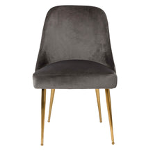Pip Dining Chair Grey Velvet