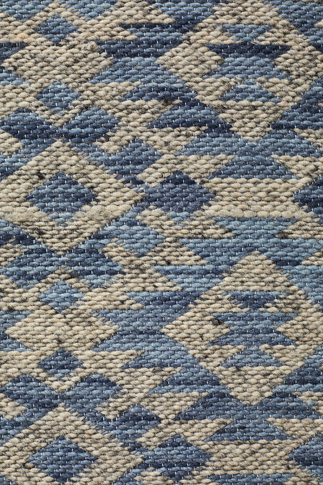 Snow Lake Rug Blue