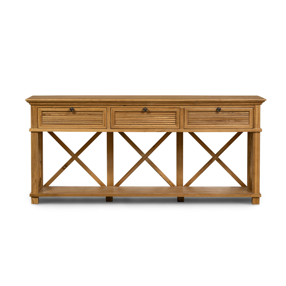 Henley 3 Drawer Console Natural