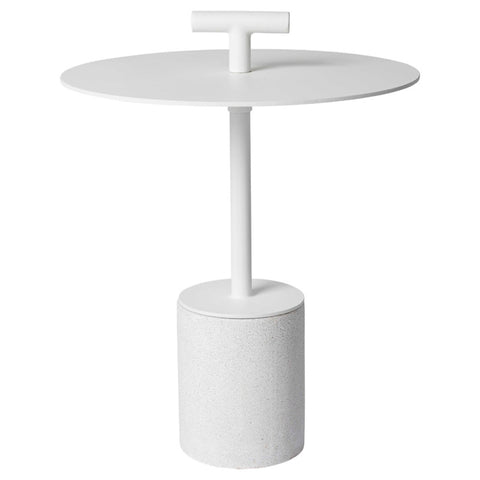 Perry Outdoor Side Table White