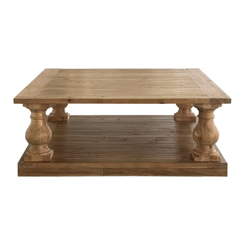 Baluster Square Coffee Table