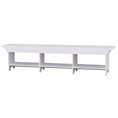 Curtain Bench Large White
