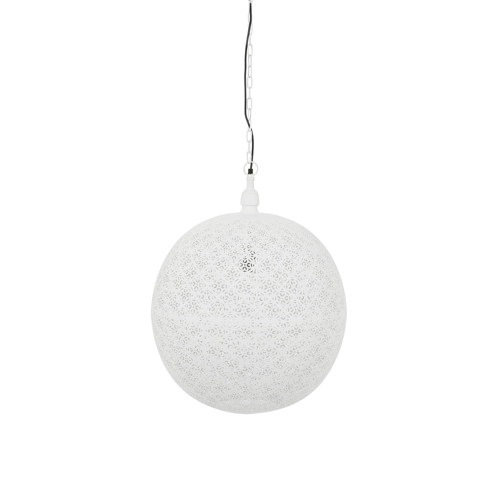 Aadi Ball Pendant Whitewash