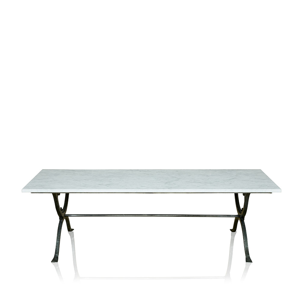 Arles Wrought Iron Coffee Table With Marble Top