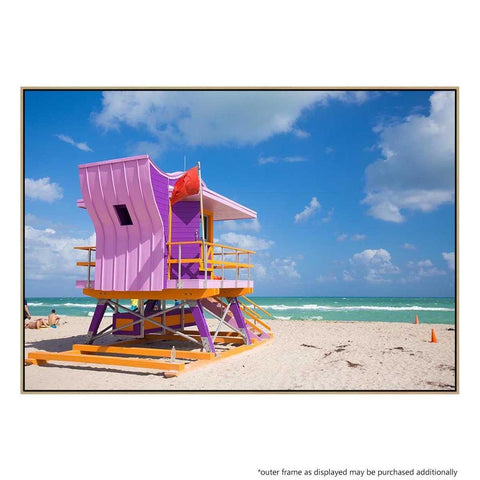 Beach Shack Canvas Print with Floating Frame