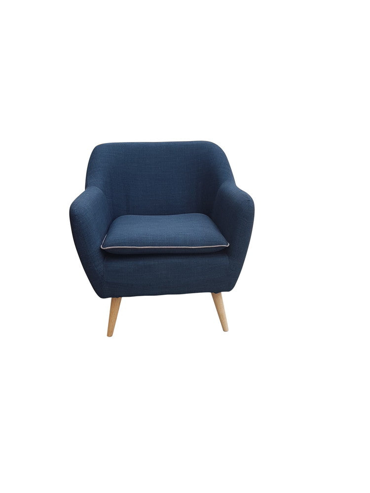 Sixty Luxe Armchair Navy Blue