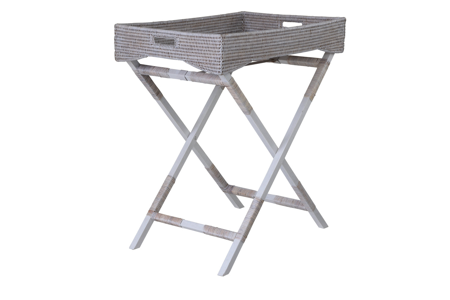 Africola Butlers Tray Table Whitewash