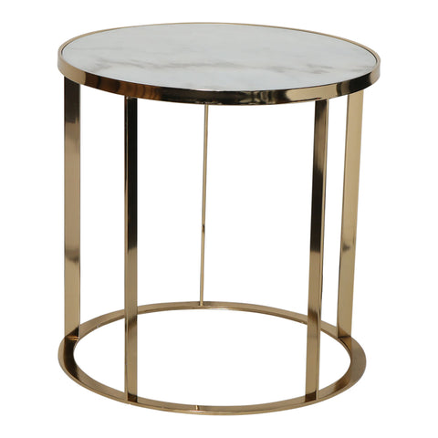 Brixton Gold Table with Marble