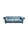 Manhattan 3 Seat Chesterfield Azure Velvet