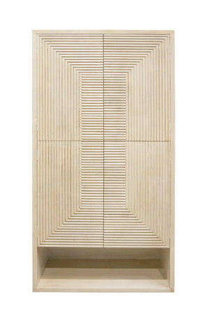 Tanassi 4 Door Tall Cabinet Natural Wash