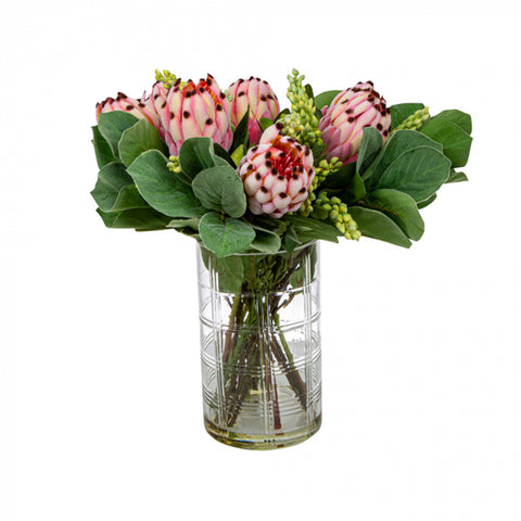 Pink Protea in Toby Vase Large