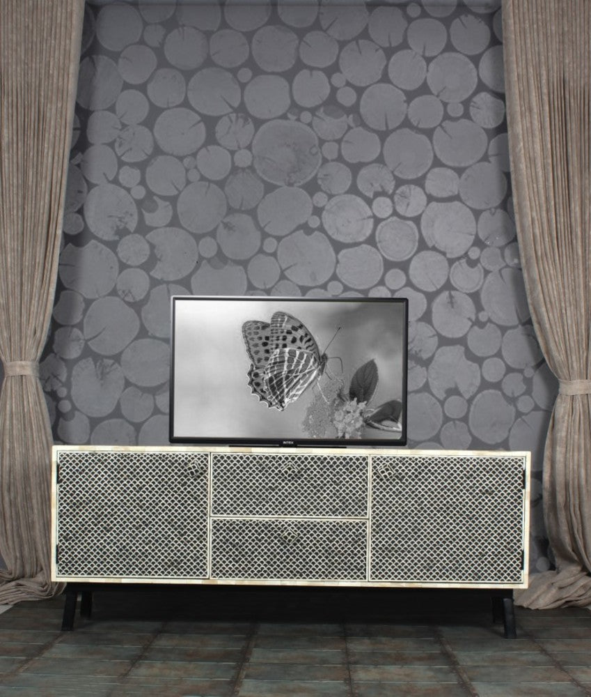 Bone Inlay Fish Scale Sideboard