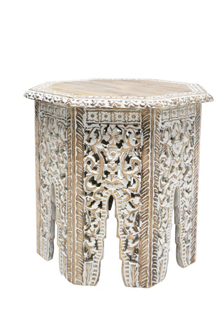 Safa Carved Side Table