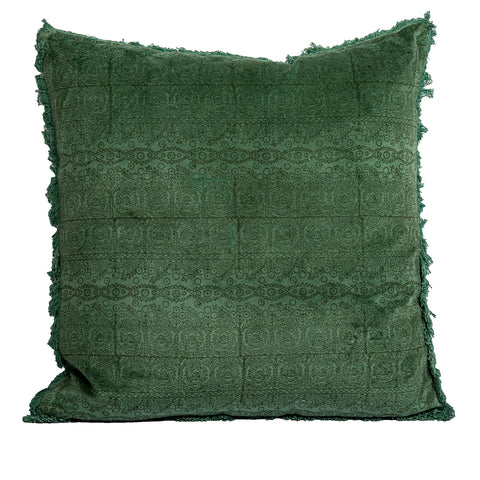 Imane Velvet Cushion Green