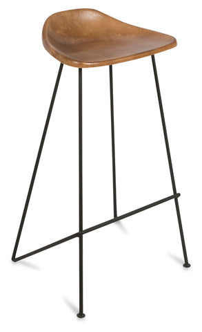 Archie Tan Leather Barstool