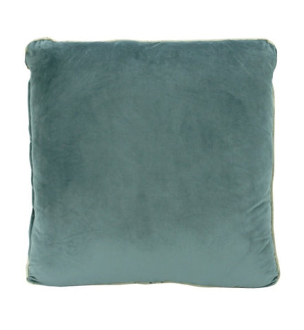 Aqua Velvet Cushion Gold Piping