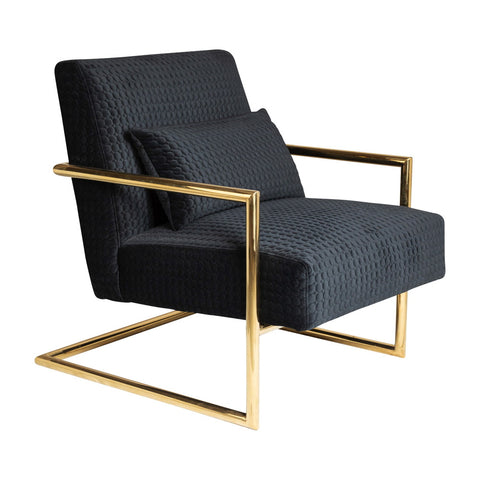 Saxon Armchair Black