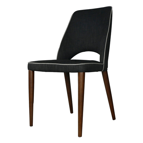 Foggo Dining Chair Santorini Black/Grey
