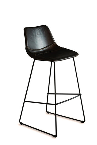Stevie Leather Counter Stool Chocolate