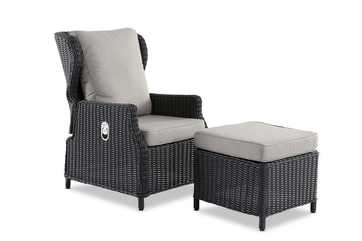 Aegean Outdoor Footstool Anthracite
