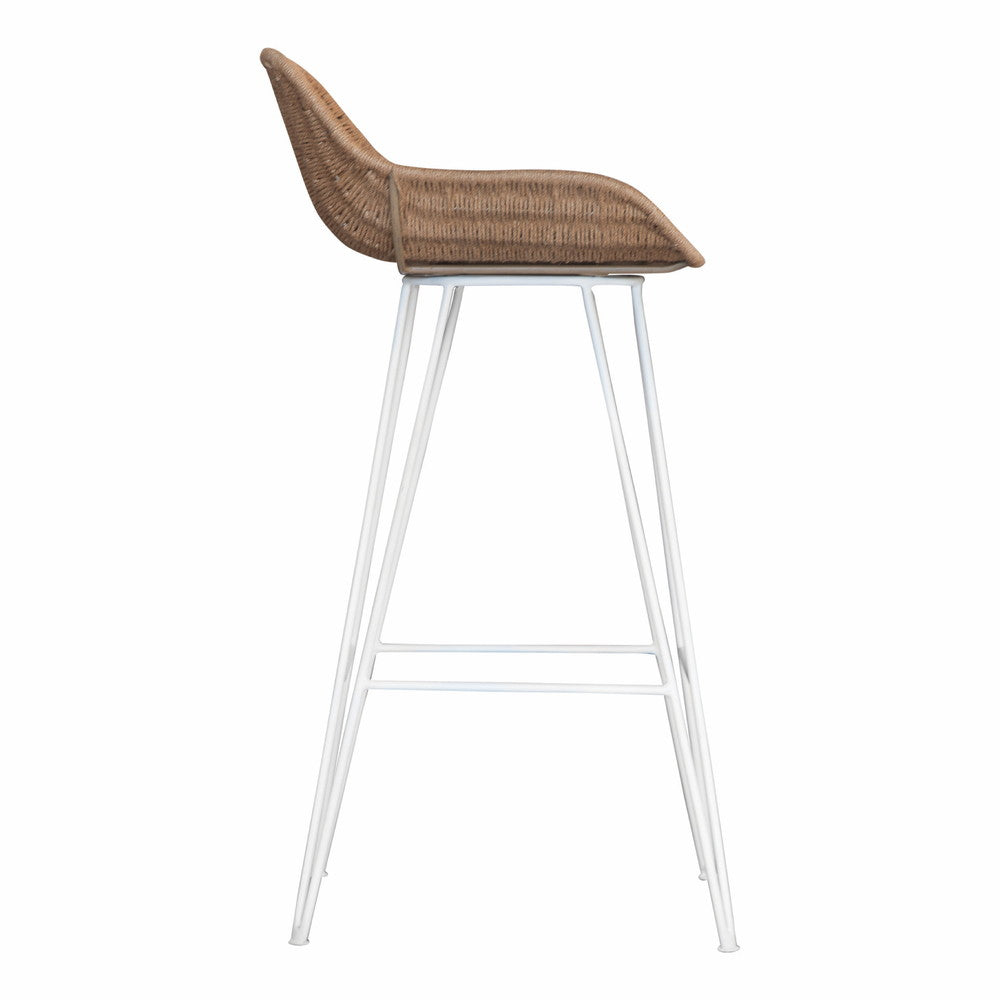 Angola Bar Chair Jute and White